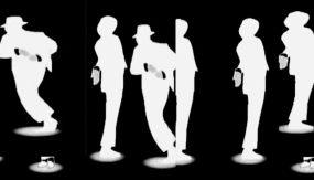 动感时尚舞蹈迈克尔杰克逊剪影现代韩国舞视频素材