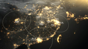 【原创】卫星夜景谷歌地图模板AE模板