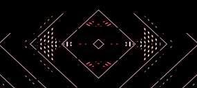 劲爆酷炫红色几何线条方格网格酒吧vj视频素材
