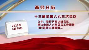 干净红色党政简约标题字幕版会议日历AE模板