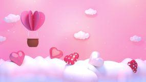 甜美浪漫云朵可爱背景视频素材