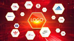 红色企业合作标志演绎ae模版01AAE模板