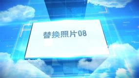 蓝天白云科技照片包装片头AE模版AE模板