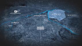 原创西安港务区区位地图AE模板