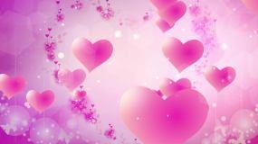 4K爱心粉色唯美背景循环视频素材