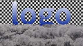 穿梭云层乌云透明背景AE模板