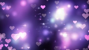 七夕浪漫紫色愛心背景視頻素材