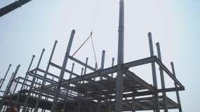 建筑钢结构视频素材