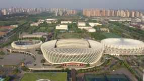 武汉武网宣传片光谷国际网球中心4K航拍视频素材