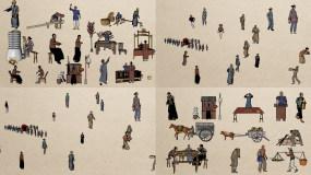 中国古代人物视频素材V1AE模板