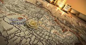 扬州大运河地图cg动画AE模板