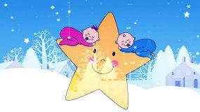儿童歌曲《雪宝宝》配乐舞台表演背景视频素材