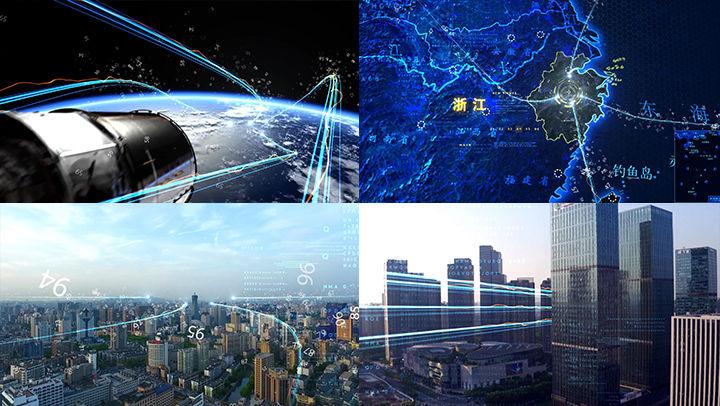 科技城市光线片头AE模板2