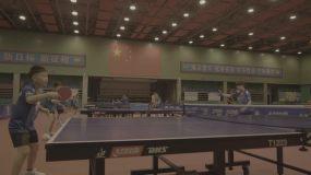兵乓球训练视频素材