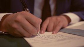写信写字书写笔记记录写情书字迹、可商用视频素材