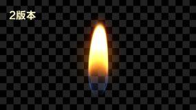 【4款】蜡烛火焰(通道)视频素材包
