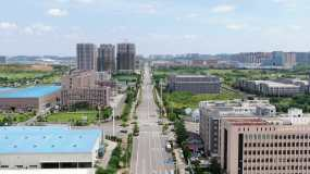 佛祖岭全景三路光谷开发区光谷自贸港航拍视频素材