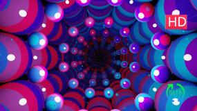 霓虹发光球形隧道视频素材包