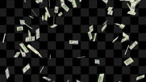 撒钱钞票落下视频素材包