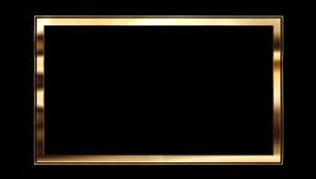 6款金色边框相框(透明通道无缝循环)视频素材包