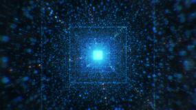 科技方形粒子空间隧道视频素材