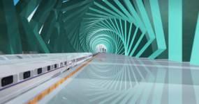 原创[4K]商务高铁商务空间视频素材