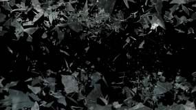 玻璃破碎效果视频素材视频素材