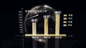 高科技柱状图透明柱状图分析数据AE模板AE模板