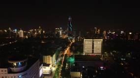 泉城路夜景视频素材