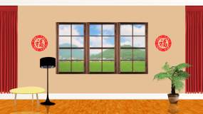 小品客厅农村循环背景-白天视频素材