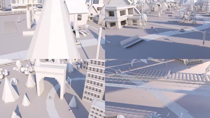 折纸城市C4D工程