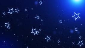 蓝色唯美梦幻五角星LED背景视频视频素材