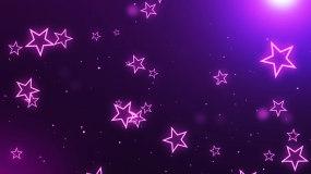 粉红唯美梦幻五角星LED背景视频视频素材