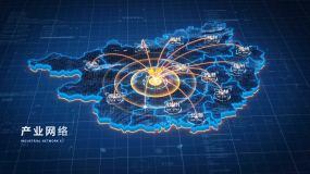 原创广西地图辐射AE模板AE模板