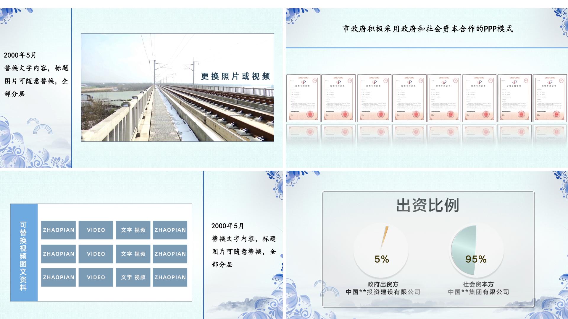 中国风多屏动画展示