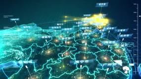 (视频素材)黑龙江辐射全国——全球-3视频素材