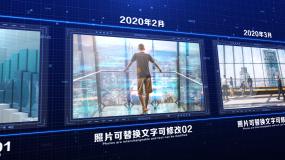 蓝色科技时间线图文展示AE模板AE模板