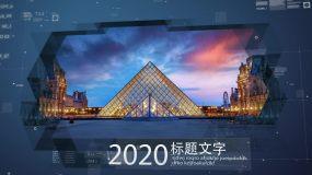 科技感图文企业时间线宣传展示AE模板