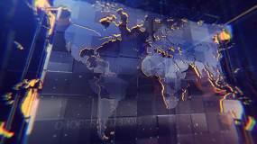 高质量科技世界地图背景视频素材