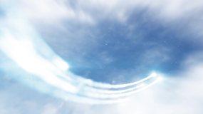 AE三维云层片头-2AE模板