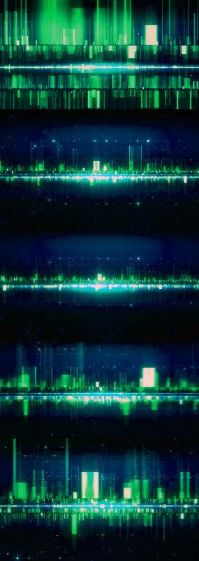 4K数据流城市动态背景视频素材