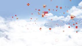 云层穿梭年会图文开场folderAE模板