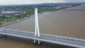 南沙凤凰一桥4K航拍视频素材