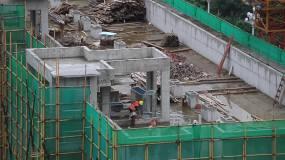 建设塔吊建筑工地房地产高清视频素材