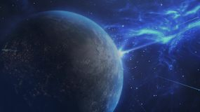 大气蓝色星际空间AE模板