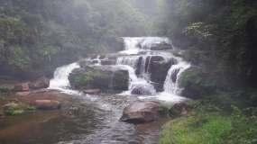 山间河流瀑布溪流小清新自然视频素材