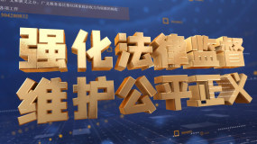 大气蓝色科技法院法徽片头AE模板