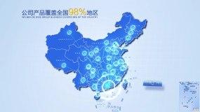 实用地图广州辐射全国AE模版AE模板