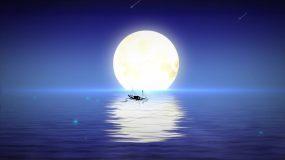 海上生明月唯美海面湖面水面视频素材
