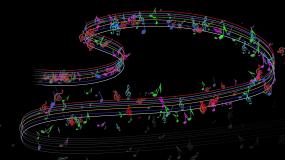 唯美音符音律流线线条粒子穿梭特效AE模板AE模板